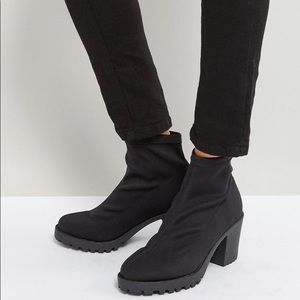 Shoes - Trendy Black sock ankle shoes
